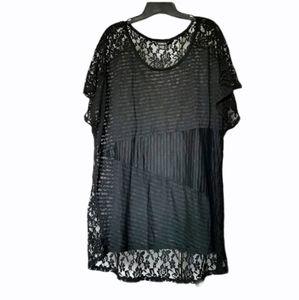 Torrid lace sheer black top size 3x